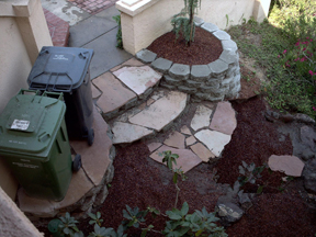 Biscayne, pavers,keystone,wall,stairs,path,composting